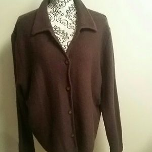 Honors XL brown wool sweater